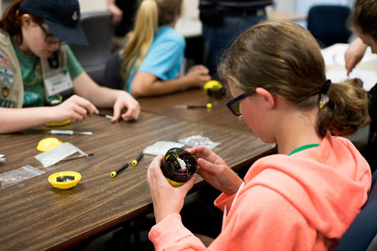 Girl Scout STEM Badge College activities