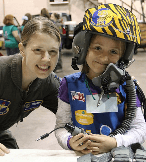 Girl Scout Aviation Fun Patch event
